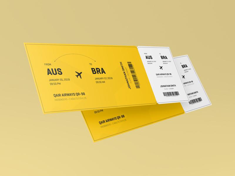 Ticket Mockup mock ups mock up mockups event card boarding presentation graphic design mockup ticket