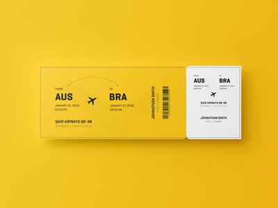 Free Event Ticket Mockup 5.5x2
