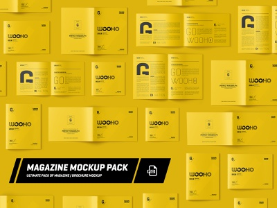 Magazine / Brochure Mockup Pack 3d pack fold mock-ups print template catalog mock up square graphic a4 psd mockup ui design mockups magazine presentation brochure mock-up mockup