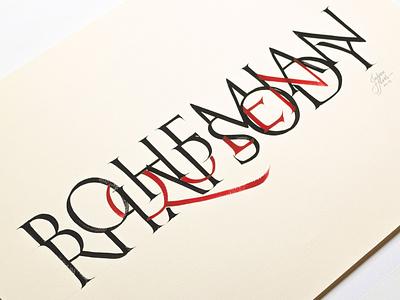Bohemian Rhapsody calligraphy poster classic rock handmade queen rock poster calligraphy