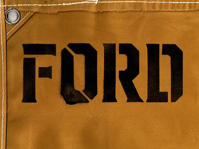 Ford - Stecil Alphabet alphabet lettering stencil art