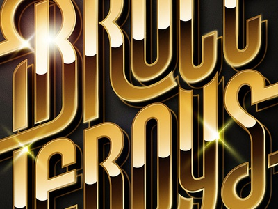 Bruce Leroys logo, final version