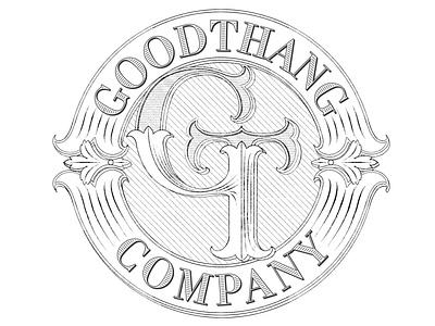 Goodthang logo sketches - Options monogram lettering victorian