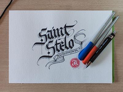 Logo for a beer – sketches #4 typography lettering calligraphy handwritten logo beer script logo
