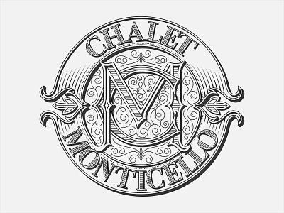 Chalet Monticell - final version typography lettering calligraphy handwritten logo beer script logo