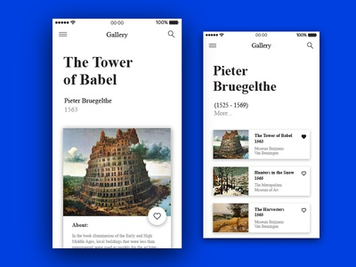 Art Gallery iOS App
