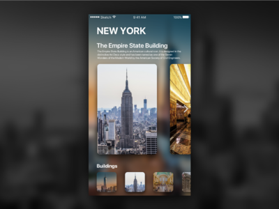 New York Travel app empire state building new york design mobile ux ui iphone ios app travel