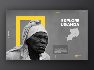 National Geographic Landing page interface web ux uidesign ui web design landing page national geographic