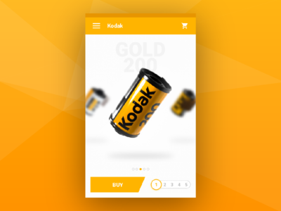 Kodak Store App material design android buy sell product ecommerce ux ui app mobile store kodak