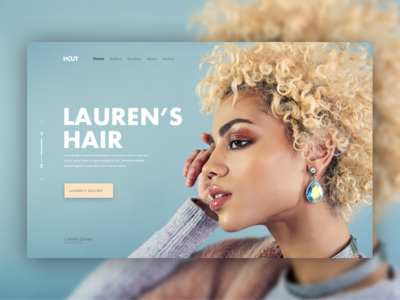 Hairdresser website header web design landing page design ux ui web header website hair hairdresser