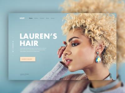 Hairdresser website header