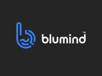 Blumind Logo simple symbol mind brand b typography icon vector branding design logo