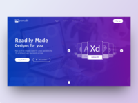 Daily UI Challenge : Landing Page