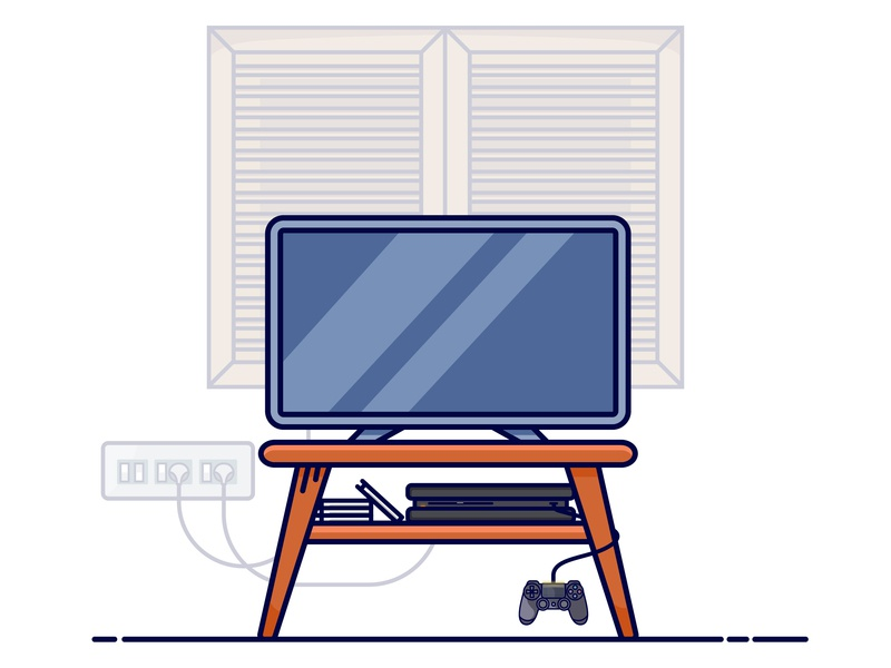 And thats my Console design vector flat illustrator gamer gaming graphics illustration sony playstation console playstation4