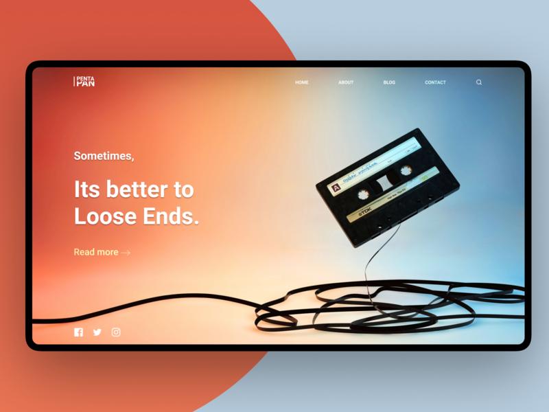 Loose Ends - Landing Page 3d cinema4d design a day figma ui illustrator app illustration design