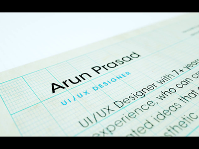 Resume : A Perspective aftereffects 3d application job design resume