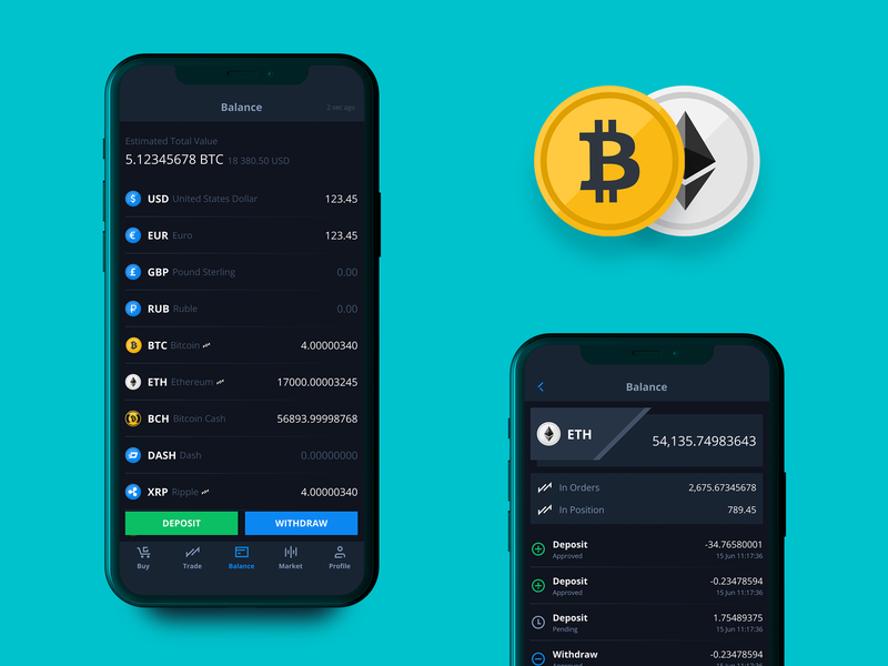 Balance. Mobile Application Design for Crypto Exchange CEX.IO.