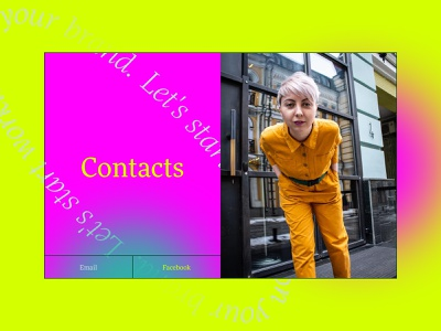 A personal website for Daria Volkova contact responsive gradient color icon art color about page service brand strategist marketing ui ux promo landing site branding typography mobile product design web design website strategy