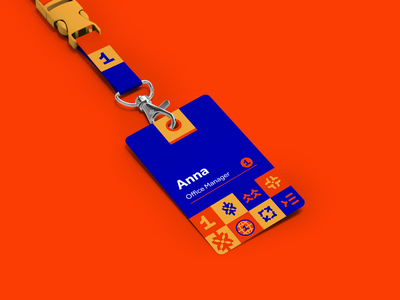 First Kyiv Courses   Rebranding a chain of schools symbols inspiration personal print badges grid symbol red and blue school and education pattern logo mark symbol icon number one first icon geometric lettering typography illustration graphic design custom logo design brandmark brand identity