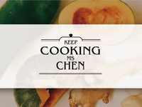 KeepCookingMsChenChen banner design version.2