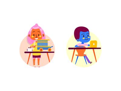 Learning web design ux ui learning website sketch learn daycare education kids illustration