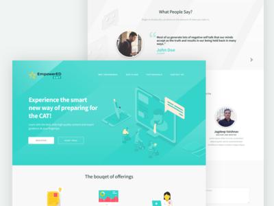 Smart Learning web design ux ui learning website sketch learn education illustration