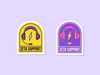 Zeta Support Stickers