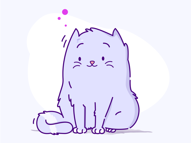 Flooferson cat person illustration monotone purple cat lady cats cat