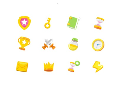 Icon Set 2.0 pop yellow victory gaming icons design iconography icons pack icons set icons game app game art games game