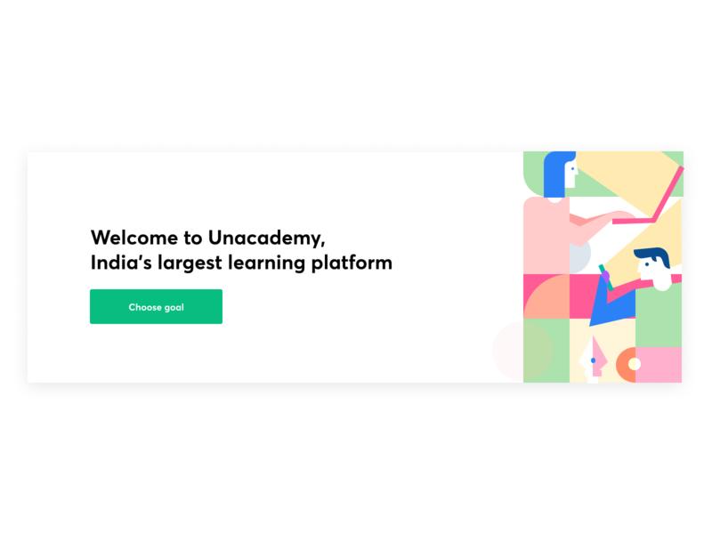 Let's Learn! online learning learn learning platform ux ui character-design graphic-design colors illustration