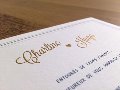 Charline ♥ Hugo Invitations