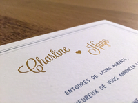 Charline ♥ Hugo Invitations