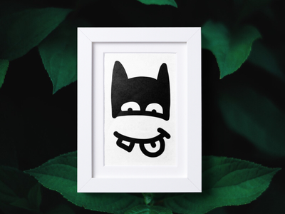 BATMAAAN 🦇 dark comics hero batman face portrait illustration doodle