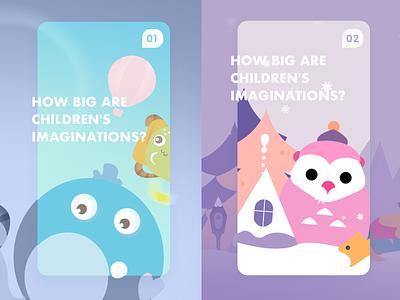 Education illustrations H5 h5 紫色 蓝色 snowing snow 猫头鹰 下雪 雪 design illustration 插画