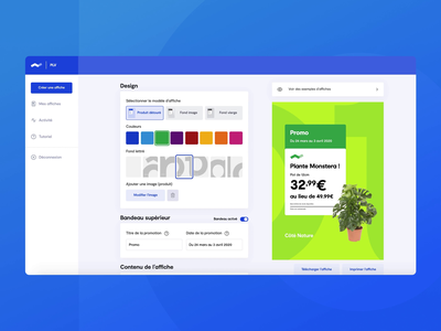 Tools design - Ads poster generator design remote ux animation dribbble branding figma webdesign app creation ads tools interface new ui