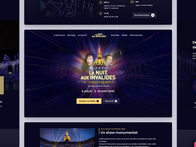 La Nuit Aux Invalides Paris - The show webdesign new figma interface animation invalides paris event show projection mapping projection night