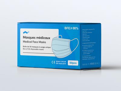 Medical Face Masks Packaging Design face mask branding packaging box masks covid19 mask
