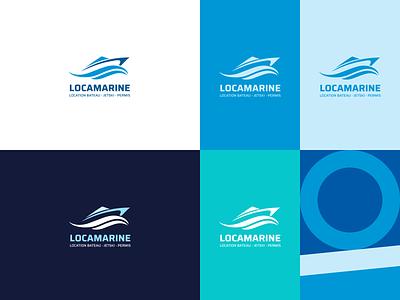 New brand identity for boat rental design new figma logo locamarine see rental boat branding interface