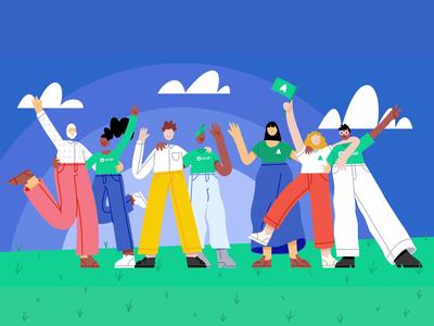Aircall just raised $120 Million in Series D outdoor motion motion graphics new aircall funding branding design animation illustration