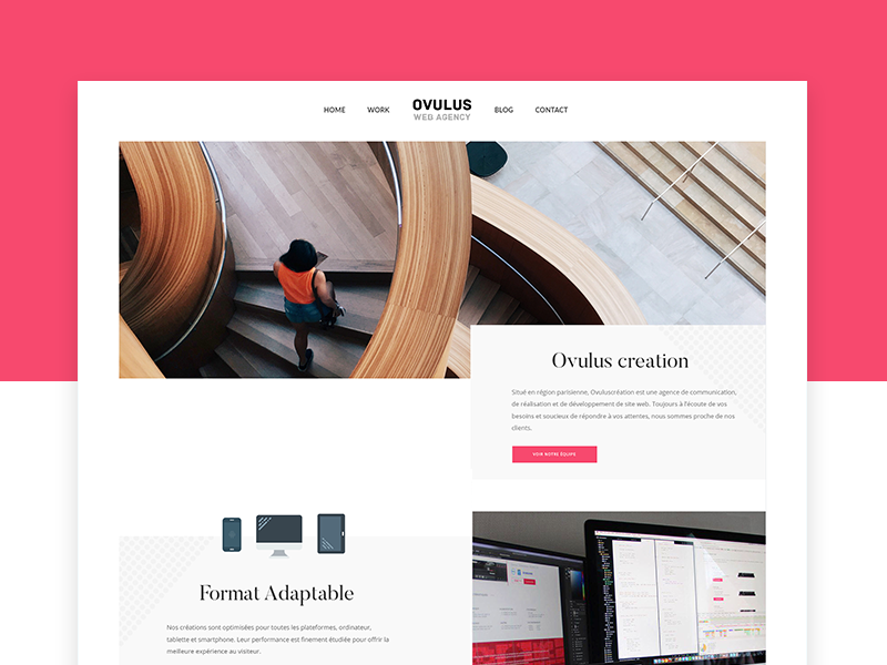 Creative Agency - Ovulus onepage website landing page menu web home design creative ux ui agency