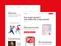 Chat'Away - Get Started Landing Page cyberbullying menu branding illustration website ux creative webdesign web landing page interface design ui