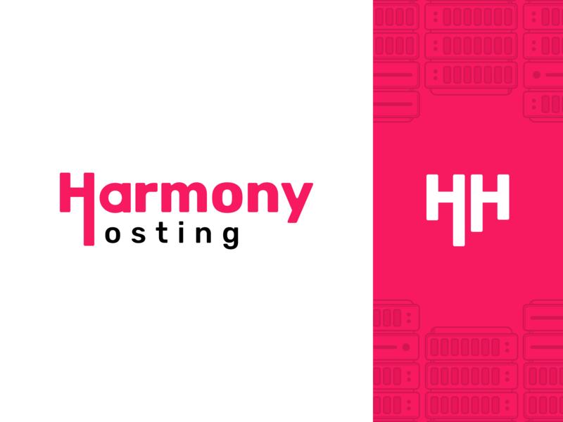 Harmony Hosting - Logo redesign interface ui landing page harmony host hosting icon typography branding creative logo design
