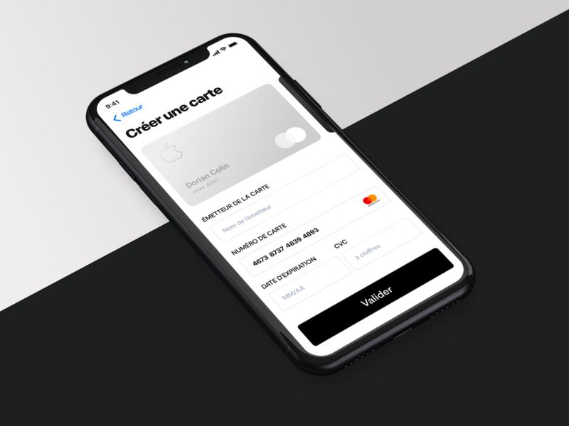 Payment application payment form mobile interface apple iphone design ui application app payment app payment