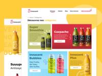 Innocent Website Redesign 🥤 figma innocent home web creative webdesign interface smoothies redesign design