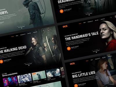 Movie App Concept Design app website webdesign landing page web figma dribbble interface new ux ui