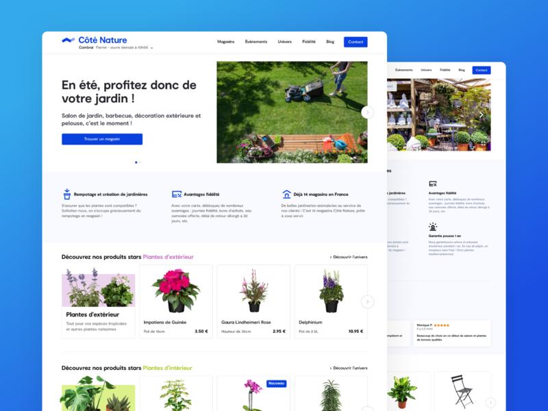 Garden Center Website   Côté Nature buy ecommerce business landing page design web figma ecommerce garden webdesign dribbble new ux ui