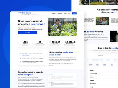 Career page - Côté Nature nature garden interface design ui ux figma dribbble new webdesign webpage career
