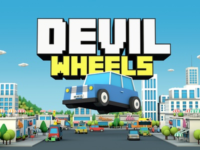 Devil Wheels - Graphic game design