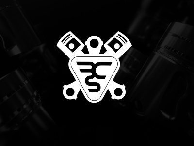 AUTO GARAGE LOGO logodesign vector ux ui stroke illustration autologo piston automotive garage symbol colorful icon design identity logo branding