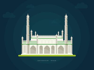 Govindakudi - Masjid stroke colorful vector illustration symbol design identity logo icon branding